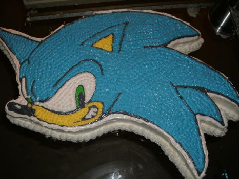Sonic Birthday Cake by Videoanime