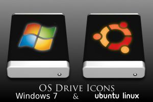 Ubuntu and Windows 7 HD icons by priorityanddefault