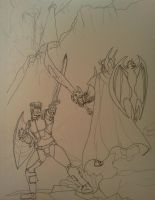 An Uphill Battle (inked)- WIP by dhbraley