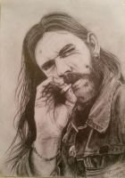 Lemmy Kilmister. drawn 2016 by drawingpagaans