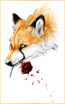 .:Fox and Rose:Tattoo Design:. by WhiteSpiritWolf
