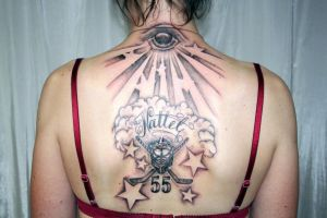 Fantastic Backpiece Tattoo 1th by 2Face-Tattoo