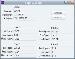 Space Calculator by PaPerfeed