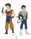 Goku + Vegeta by seventhirtytwo