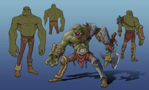Orc Barbarian by suldae