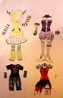 Halloween Costume Adoptables by chaosqueen122