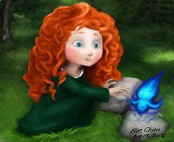 Young Princess Merida from Brave by Clari3
