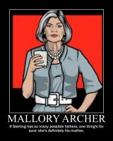 Mallory Archer demotivational by ImdaBatman
