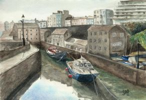 Boats in Tenby Sluice by Wenchkin