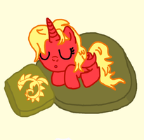 Sleepy DragonPony by dragonpony