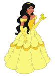 Jasmine as Belle by Zanny-Marie