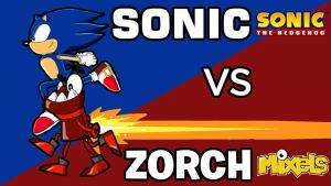 Mixels Crossover - Sonic VS Zorch by veemonlover