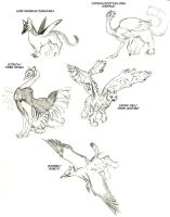 More gryphons by applescruff