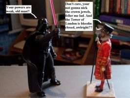 vader vs. yeoman warden. by Luke-the-F0x