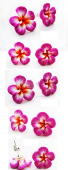 FOR SALE Pink polymer clay flowers posts v5 by Benia1991