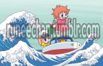 Ponyo Rides the Wave (PREVIEW) by runeechan