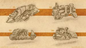 Sketch dump 03 - train locomotives by Iggy-design