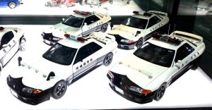 Four Japanese Super Exotic Police Cars by toyonda