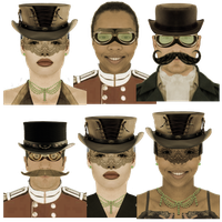 Steampunk Victorian User Icons Avatars by pendragon1966