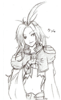 Pencil Kuja still for my wall by Rydiah