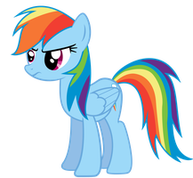 Rainbow Dash Not Amused by illumnious