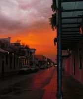 French Quarter Christmas Eve by tobilou