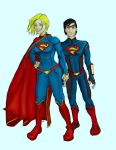 Superwoman and Superboy by QueenAravis