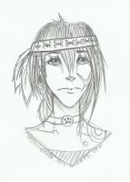 :: Point Commision Sample- Sketched Headshot :: by Sesemonda