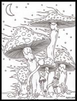 Mushrooms In The Wind by jpotts90