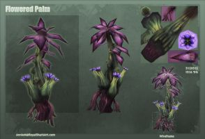 Flowered Palm by royalshark