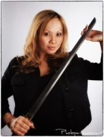 Girl with Sword by Photopersuasion