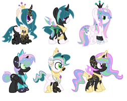 Chrysalis X Celestia shipping adopts (CLOSED) by HazDemPonys