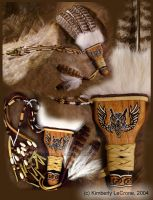 Three-Feather Celtic Owl Fan by Dreamspirit