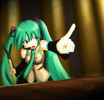 Objection Miku by omegalife