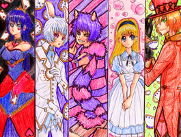 Bookmarks: Alice in Wonderland by kamai