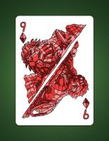 9 of Diamonds aka 9 of Earth by LineDetail