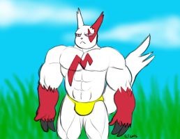 Buff Anthro Pokemon: Zangoose by CaseyLJones