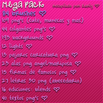 Mega Pack de Recursos PNG by karlyeditions