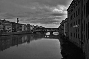 Ponte Vecchio Black and white by Erzvinh