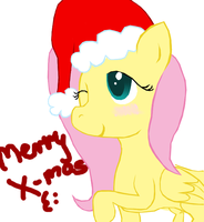 Christmas Fluttershy by LiftyRainbowFennec