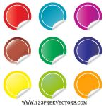 Sticker Vector by 123freevectors