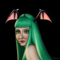 Morrigan Aensland by ersen-t by ppgrainbow