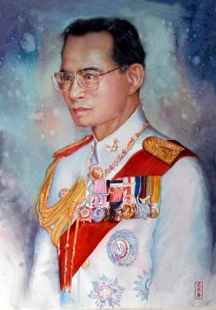 King of Thailand by juepaap