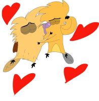 Norbert and Treeflower Kissing by CartoonAnimes4Ever