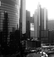Chicago in Black and White by HenryHorn