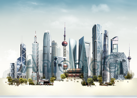 Fictional 'China city' new by AntoniaVG
