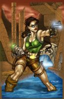 Lara Croft by escar4