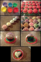 Rainbow Cupcakes by casualAddict