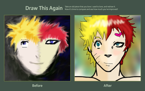 Draw This Again:Naruto/Gaara by PurplePeople1995