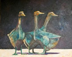 Sarlat Geese by ColourWheel